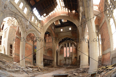Abandoned church....or more like a cathedral to us.