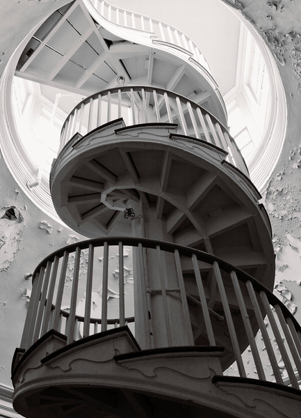 The famous spiral staircase
