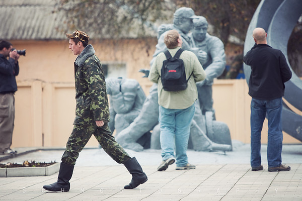 Considering how much Ukrainians stare at us, it's incredible that this guy just kept walking.  As you can tell, we are very, very obviously not from around these parts.