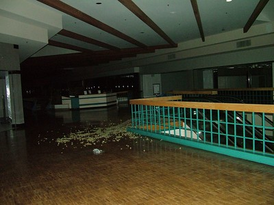 the upper floor..the leaves on the floor there are very loud.. ;P