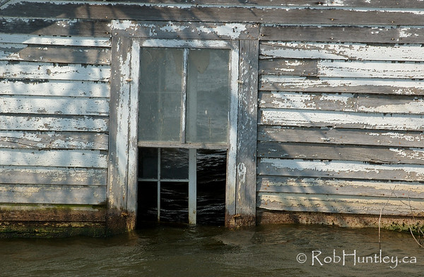Windows at water level.