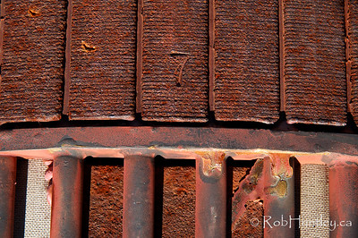 Rusting equipment at Marmora Iron Mine.