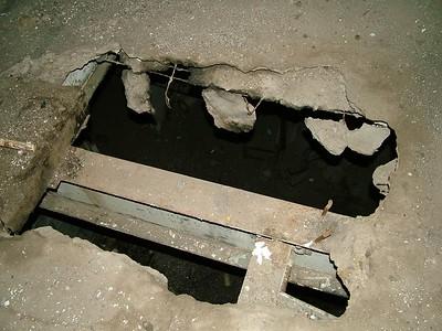 beware the holes in the floor!