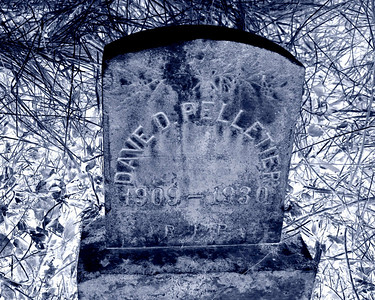 Abandoned Pelletier Tombstone - Negative Version