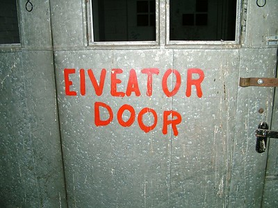 Restaurant Supply Warehouse. Pueblo, CO isnt it obvious? an elveator door!