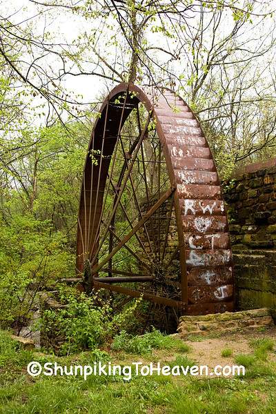 Waterwheel of the Cane Hill Mill, Washington County, Arkansas