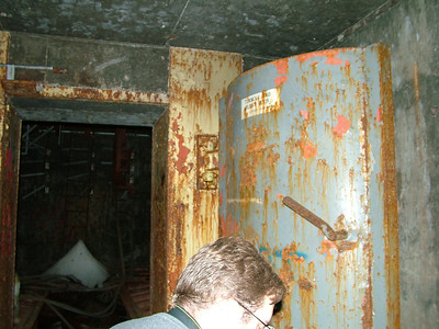 Blast door and it appears mikes head got in there somehow.