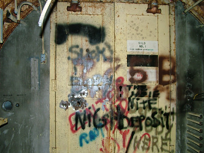 Silo 1 with the door closed...