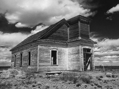 Abandoned Church in Taiban BW