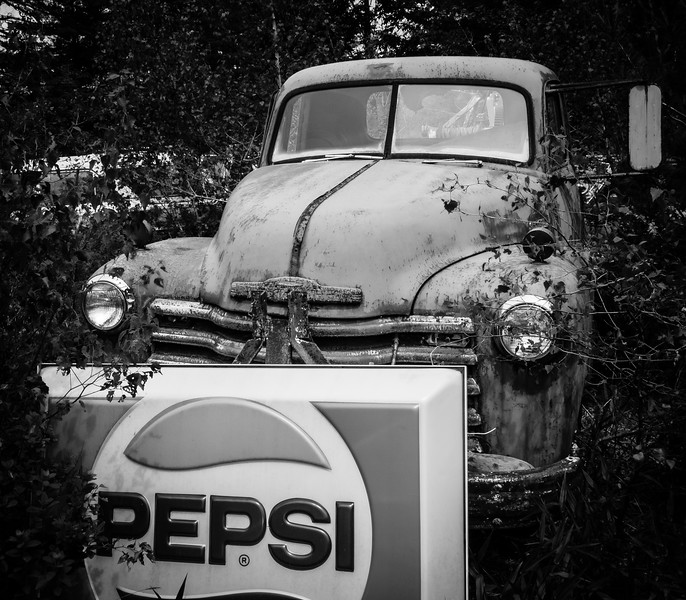 Chevy Truck with Pepsi sign