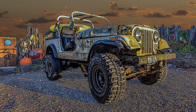 Beached Jeep