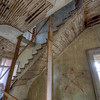 A look at the staircase coming up from the 1st and continuing up to the 3rd floor.