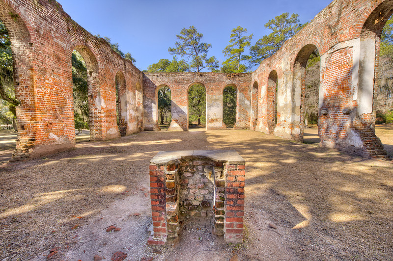 Photo of the Old Sheldon Church Ruins in Yemassee, SC