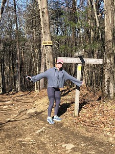 Alyssa Civello '20 takes a hike by her home