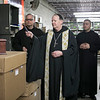 Archabbot Kurt Stasiak, OSB, blessed the urns and caskets at the Abbey Caskets workshop on March 13, 2019.