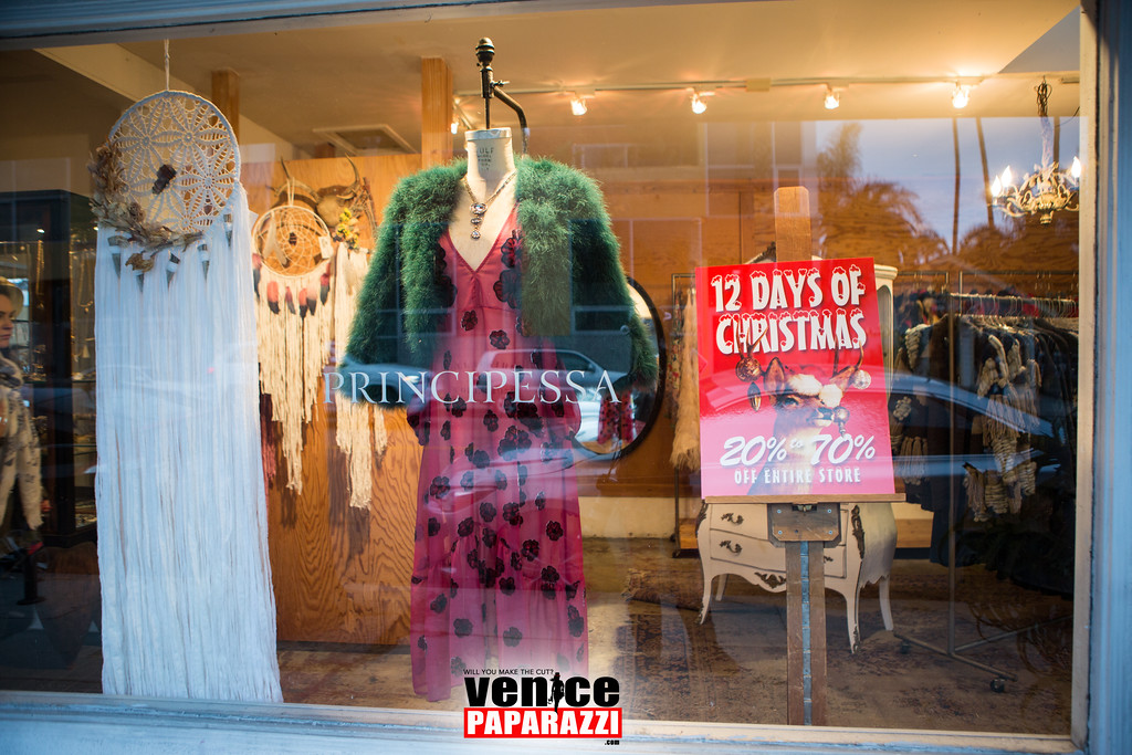 Abbot Kinney Holiday Stroll and Family Snow & Fun Day  #AKHOLIDAY2015  @ABBOTKINNEYBLVD. Photo by @VenicePaparazzi