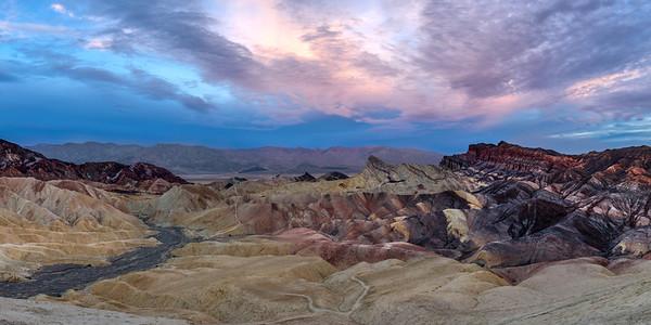 Zabriski Point at Sunrise, Death Valley, California