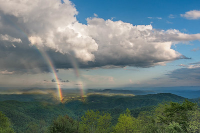 Double Rainbow at Thunder Hill Overlook