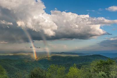 Double Rainbow at Thunder Hill Overlook