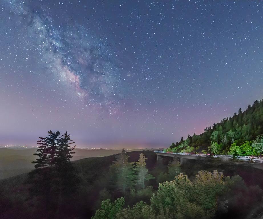 Linn Cove Viaduct and Milky Way