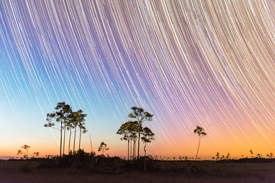 Startrails after Twilight