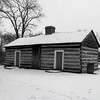 The Lincoln home; dog trot style cabin at Lincoln Log Cabin State Park near Charleston, IL