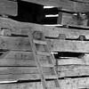 Ladder in barn at Lincoln Log Cabin State Park near Charleston, IL