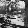 Split rail fence & Lincoln home at Lincoln Log Cabin State Park near Charleston, IL
