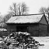 Barn at Lincoln Log Cabin State Park near Charleston, IL