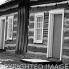 Dog trot style cabin at Lincoln Log Cabin State Park near Charleston, IL