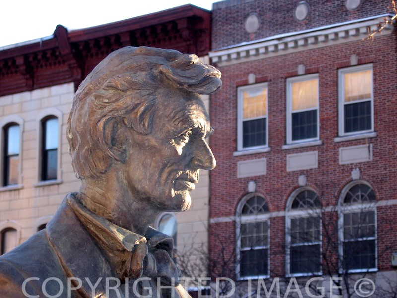 Abe Lincoln at Peoria County, IL Courthouse