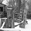 Barnyard livestock fence at Lincoln's New Salem