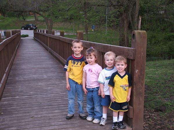 Cousins on bridge