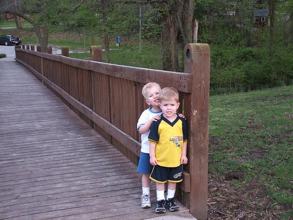 Brothers on Bridge