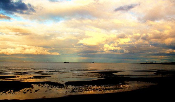 """Sunset Anchorage   (16x8, 20x10, 30x15, 40x20 in """"Panoramic""""  or 20x12 in """"Other Sizes"""")"""