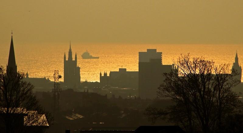 Aberdeen at daybreak