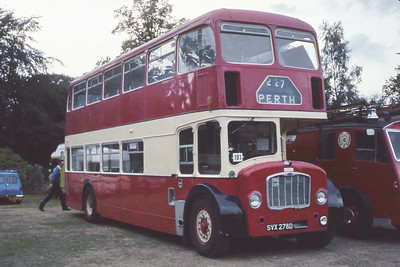 North East of Scotland Bus Preservation Society SVX278D Banchory Aug 82