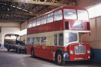 North East of Scotland Bus Preservation Society SVX278D Peterhead Depot Jun 82