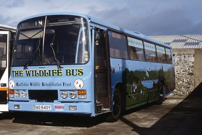 Banffshire Wildlife Rehabilitation Trust VAO640Y Macduff Depot Apr 94