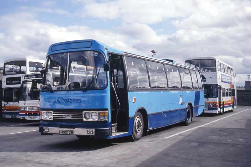 JW Coaches Banchory RRS51R Aberdeen Bus Station Aug 93