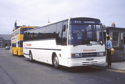 Alexanders North East F101HSO Fraserburgh Bus Stn  Jul 89