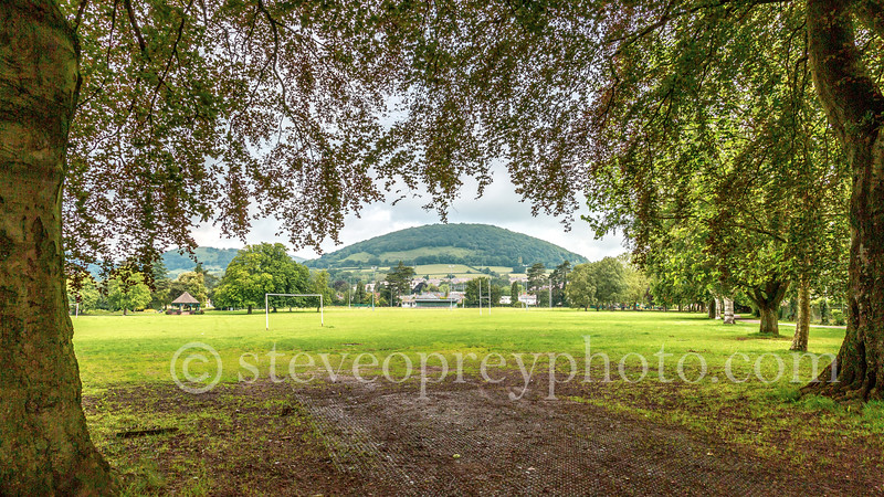 Abergavenny, Monmouthshire, Wales - June 2019.
