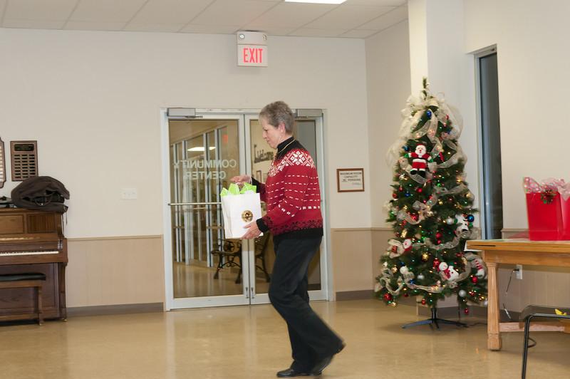 A.I.S.D. JR. High Christmas Party, Barbara Webb & Harold Bufe, Retirees, 12-22-2012 rold Bu