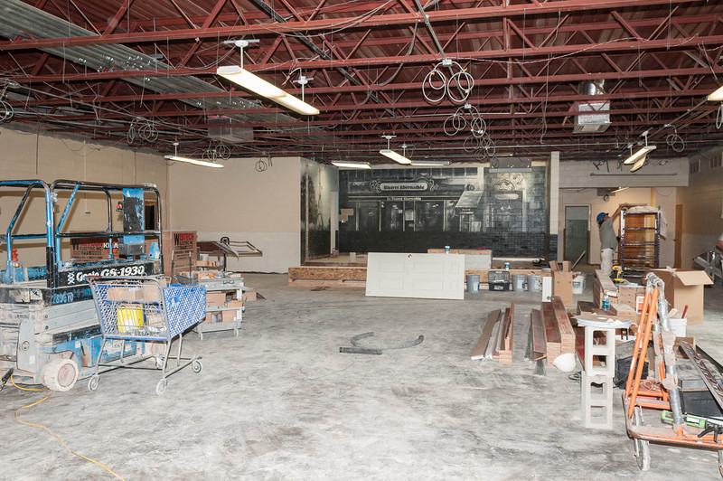 Elementary Renovation, Kids Bldg, Entrance to Auditorium, 7-15-2013