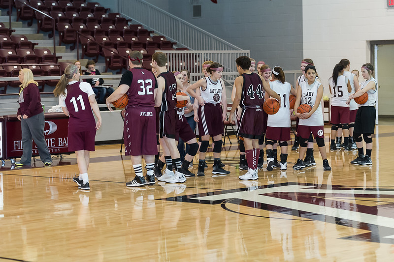 Parents vs Students Half Court, Basketball, 1-30-2015