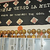 Lady Lope dressing room with just a few of the trophies they have won.