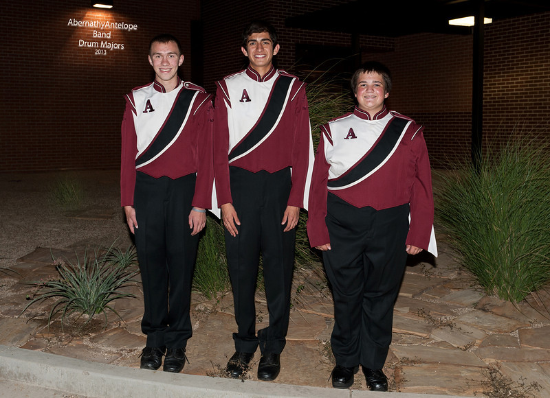 Abernathy Antelope Band, Drum Majors, 9-9-2013
