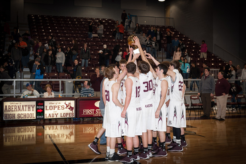Abernathy Antelopes, District 2-2A Basketball Champions, 2-4-2014