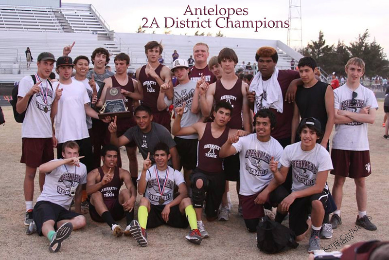 Antelopes District Champions, Track, 4-11-2014