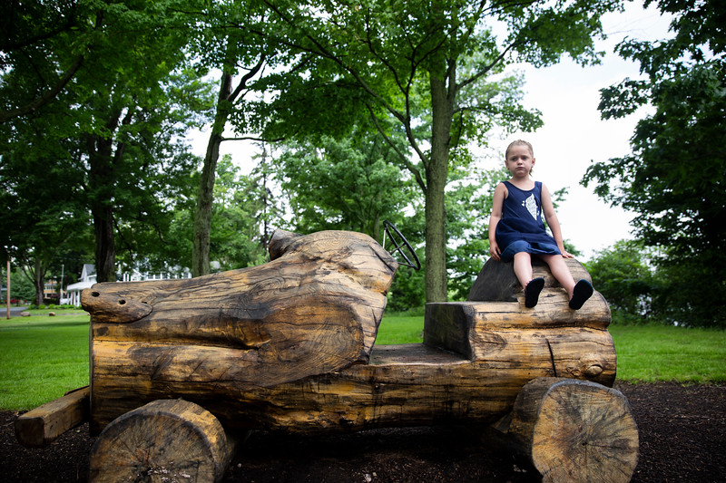 Avery Reiff, 4, plays at Timothy's Playground on June 13, 2018. ABIGAIL DOLLINS/STAFF PHOTOGRAPHER